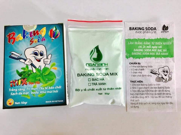 Bán sỉ Baking Soda mix bạc hà làm trắng răng