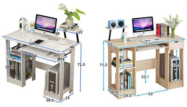 Bàn máy tính gỗ hiện đại cho sinh viên