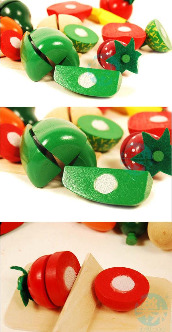 Bán sỉ bộ đồ chơi cắt hoa quả bằng gỗ cho bé