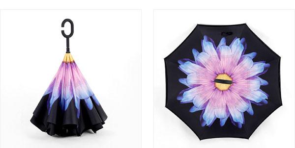 Ô gấp ngược 3d in hình hoa độc đáo