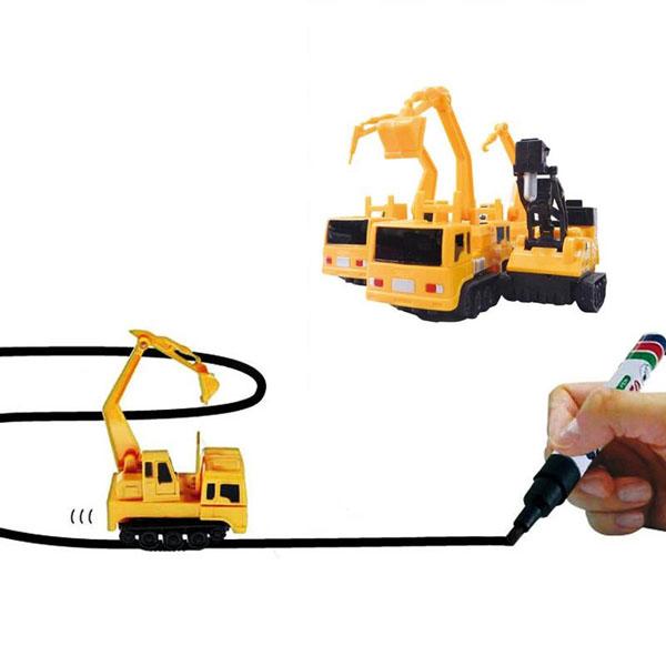 Ô tô cảm biến chạy theo nét vẽ Inductive Truck