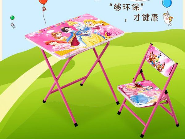Bộ bàn ghế học tập gấp gọn cho bé