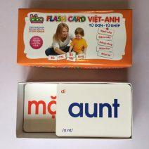 Bộ thẻ học Flash Card cho bé học song ngữ - 140 thẻ