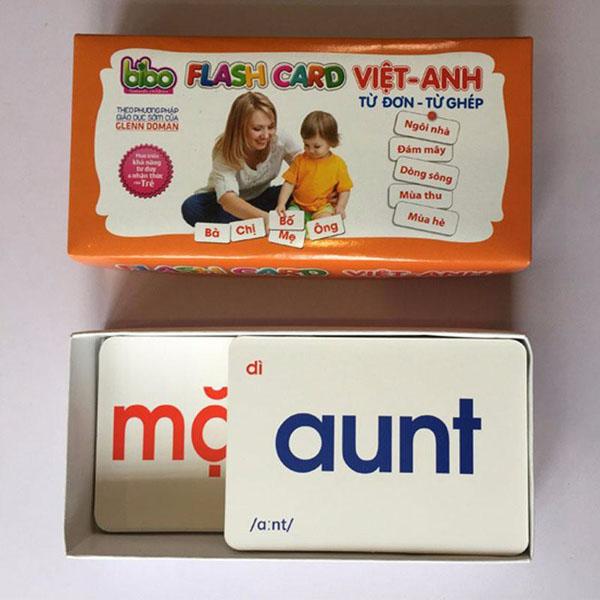 Bộ thẻ học Flash Card cho bé học song ngữ – 140 thẻ