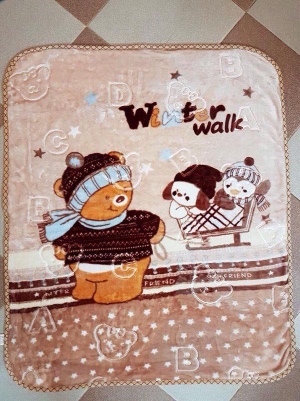 Bán sỉ chăn lông tuyết 2 lớp ấm áp cho bé
