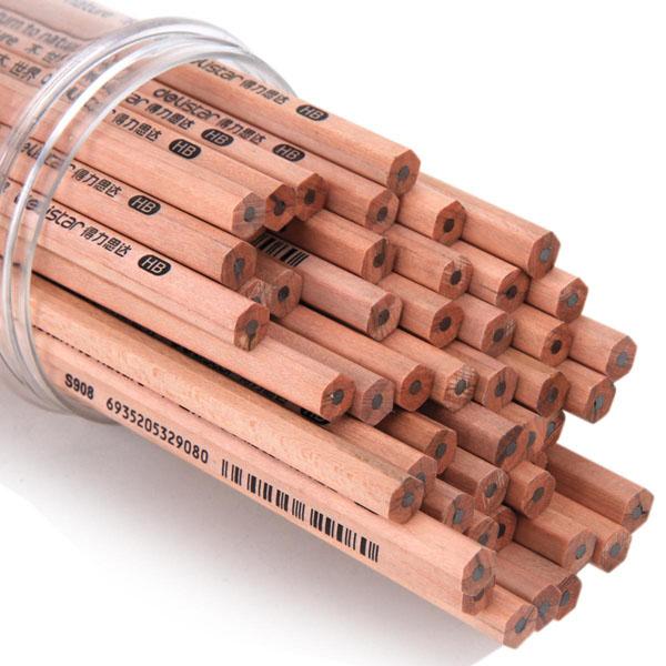 Hộp 50 bút chì gỗ Deli HB