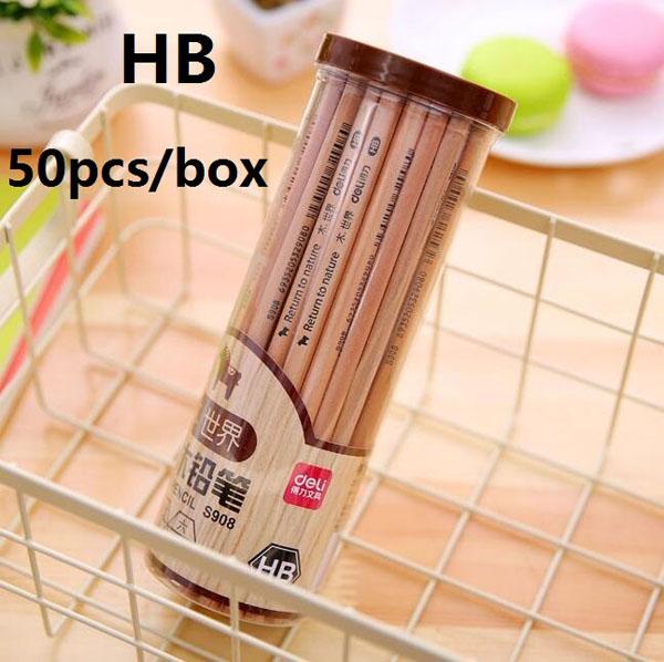Bán buôn hộp 50 bút chì gỗ Deli HB