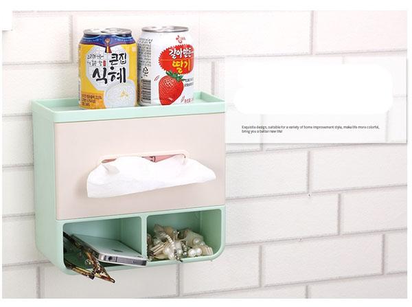 Hộp đựng giấy vệ sinh treo tường đa năng