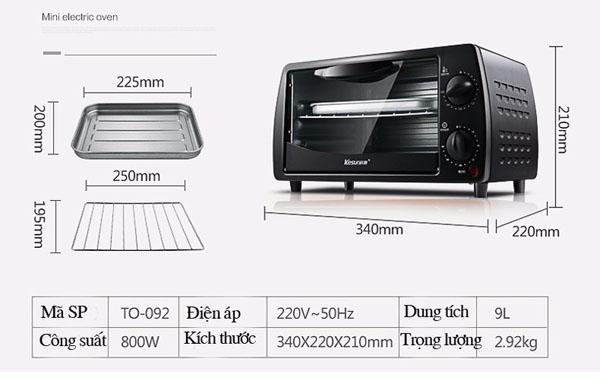 Bán sỉ lò nướng điện đa năng Kesun TO-902