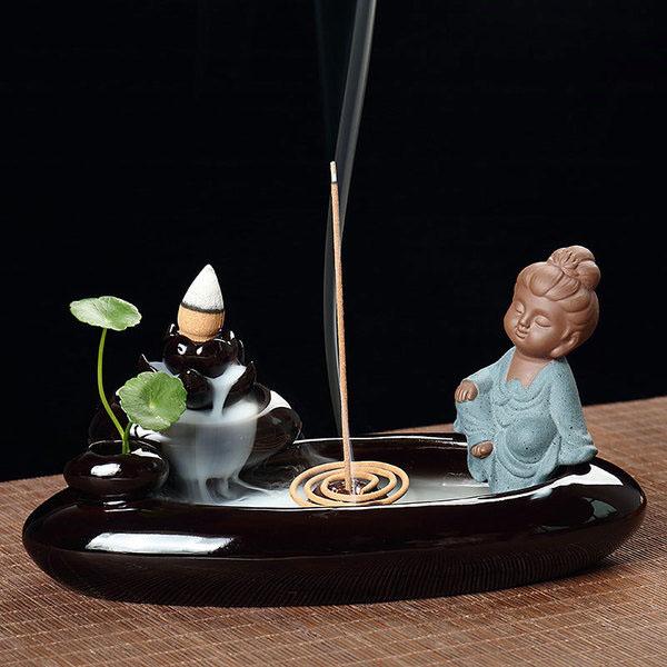 Bán buôn thác khói trầm hương Phật thiền hồ liên hoa
