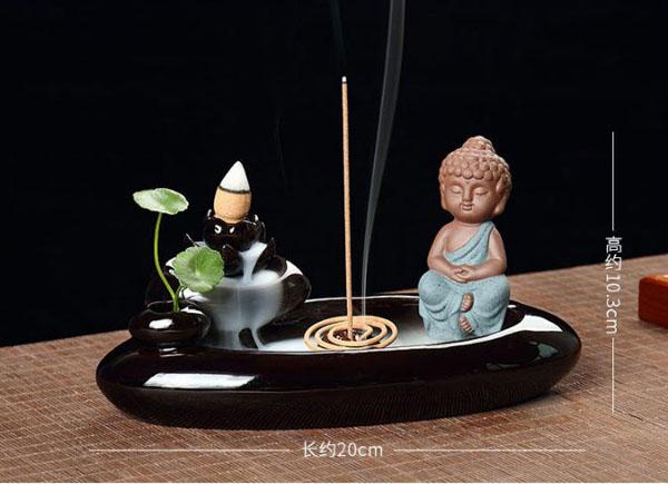 Bán sỉ thác khói trầm hương Phật thiền hồ liên hoa