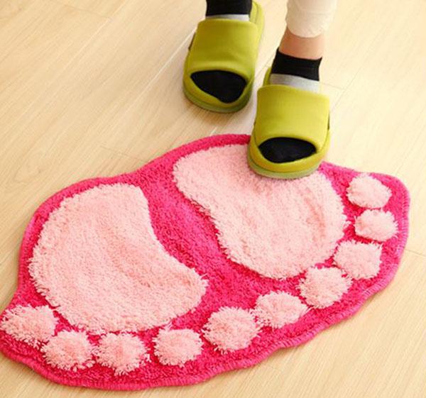 Bán buôn thảm lau chân hình bàn chân siêu thấm