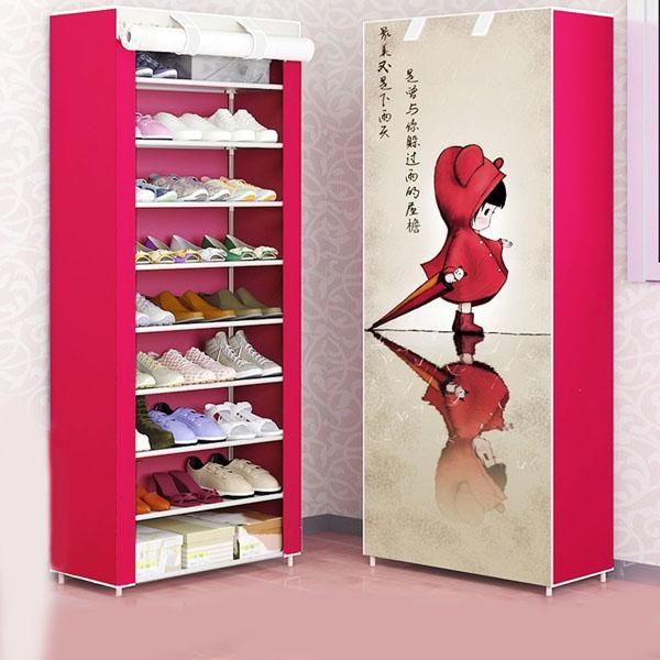 Tủ vải đựng giày dép 10 tầng 3d