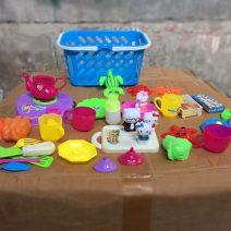 Giỏ đồ chơi nấu ăn cho bé