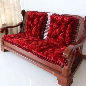 Bộ thảm trải ghế gỗ cao cấp dày không trơn