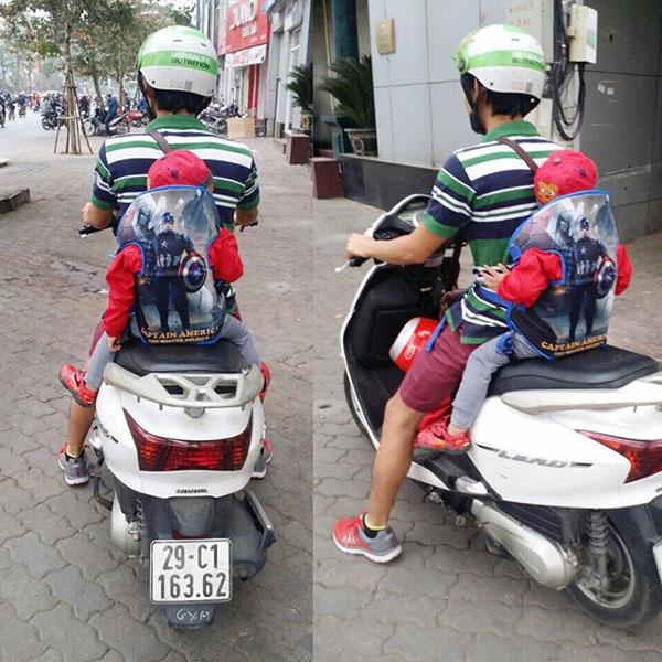 Đai xe máy đỡ cổ Royal họa tiết 3d