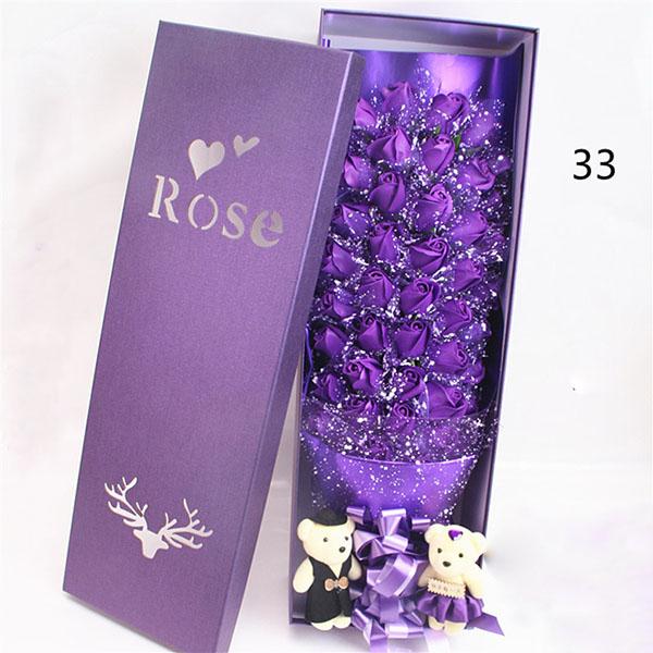 Hoa hồng sáp 33 bông phủ tuyết đẹp