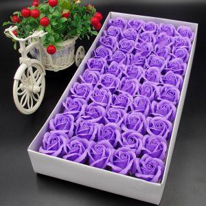 Hoa hồng sáp hộp 50 bông sang trọng