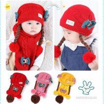 Mũ len dệt kim cho bé phong cách Hàn Quốc