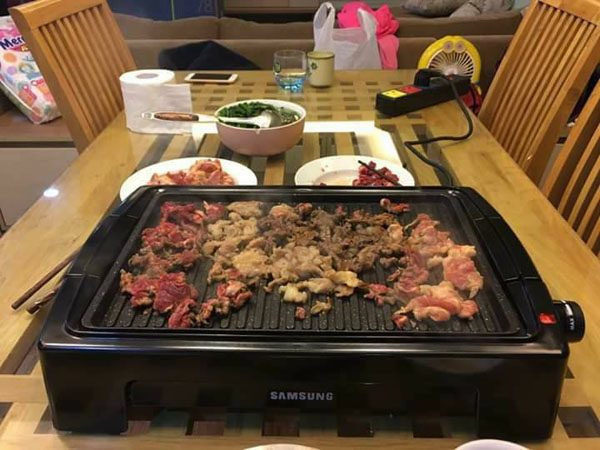 Bếp nướng điện không khói Samsung DH-611A mặt vân đá