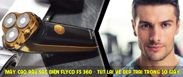 Máy cạo râu Flyco FS-360 3 lưỡi cao cấp