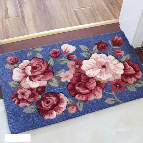Thảm chùi chân họa tiết hoa 3D