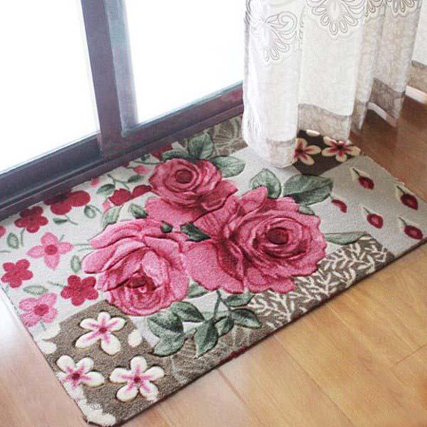 Bán buôn Thảm chùi chân họa tiết hoa 3D