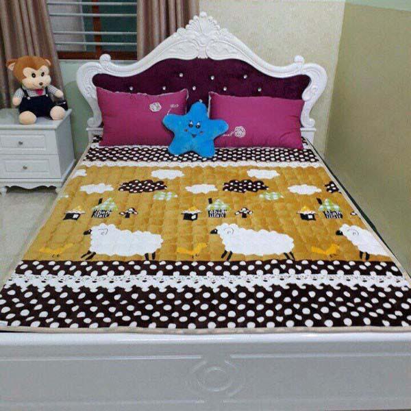 Thảm nhung trải giường trần bông