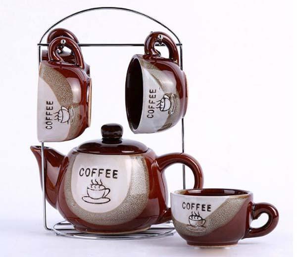 Bán sỉ bộ ấm chén treo Coffee Set độc đáo