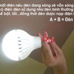 Bán sỉ bóng đèn led tích điện thông minh 12w