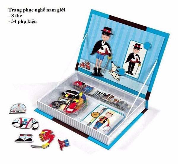 Bán sỉ sách ghép hình nam châm Magnetic book cho bé