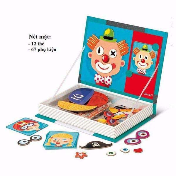 Bán buôn sách ghép hình nam châm Magnetic book cho bé