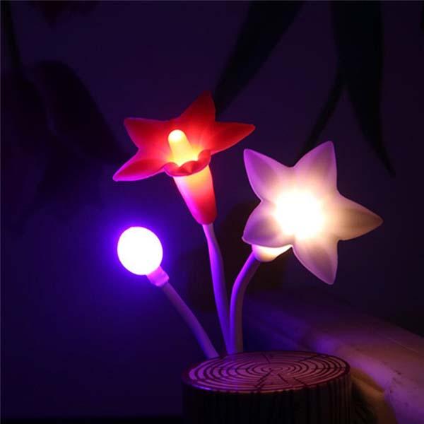 Đèn ngủ cảm ứng hình hoa ly độc đáo