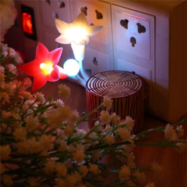 Bán sỉ đèn ngủ cảm ứng hình hoa ly độc đáo