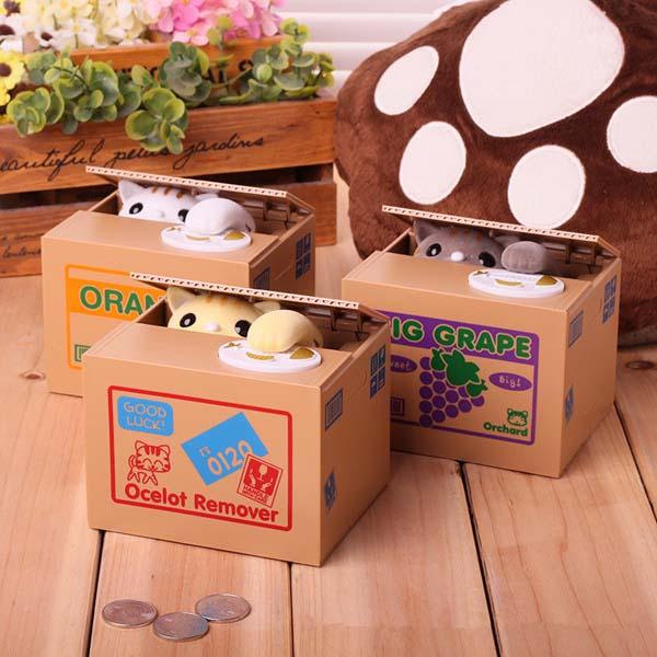 Đồ chơi hộp tiết kiệm mèo trộm xu