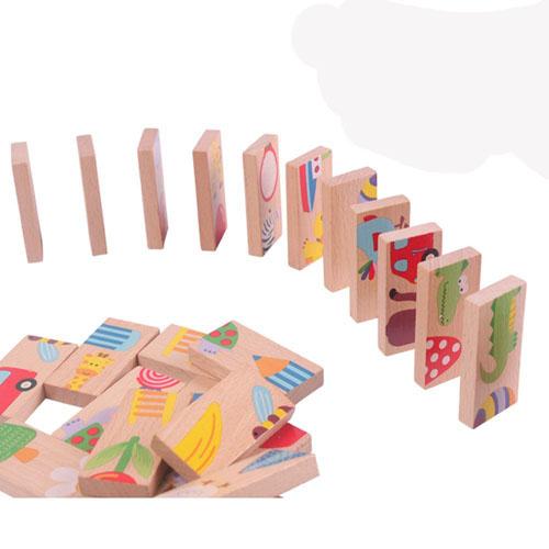 Bán sỉ bộ đồ chơi Domino 28 chi tiết cho bé