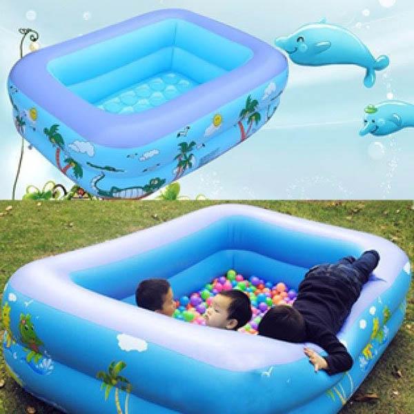 Bể bơi phao chữ nhật 2 tầng 1m2 cho bé
