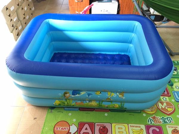 Bể bơi 3 tầng hình chữ nhật 1m5 cho bé