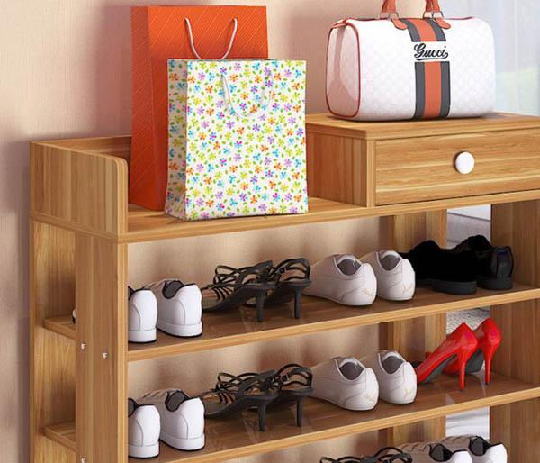 Bán sỉ kệ giày bằng gỗ lắp ráp đa năng tiện dụng