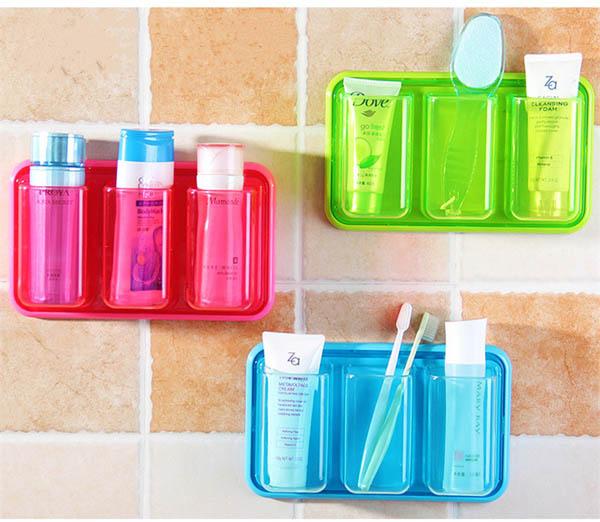Kệ nhựa để đồ nhà tắm 3 ngăn dán tường siêu chắc