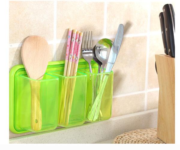 Bán sỉ kệ nhựa để đồ nhà tắm 3 ngăn dán tường siêu chắc