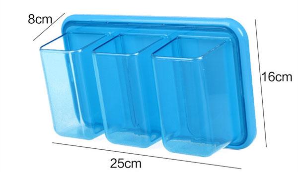 Bán buôn kệ nhựa để đồ nhà tắm 3 ngăn dán tường siêu chắc
