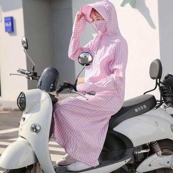 Áo chống nắng toàn thân liền mũ và khẩu trang