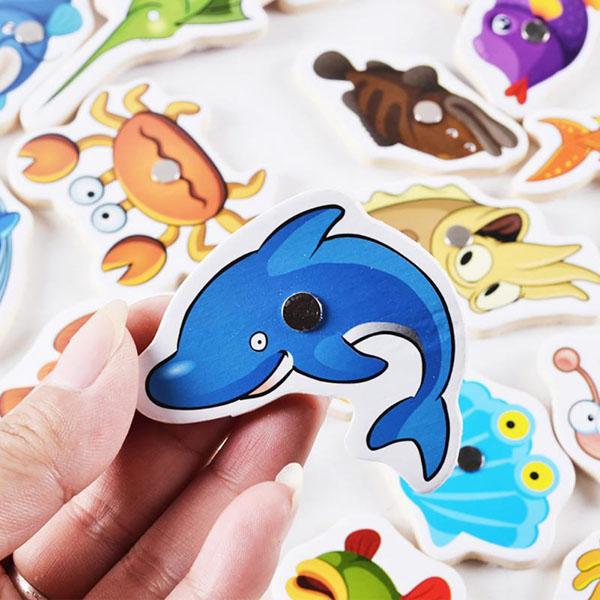 Bán buôn đồ chơi câu cá nam châm gỗ cho bé