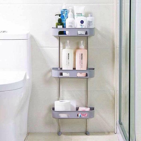 Kệ để đồ nhà tắm hít chân không 3 tầng