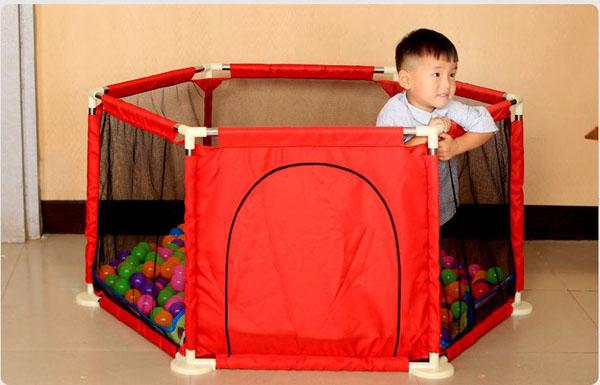 Quây bóng vải dù khung thép cho bé