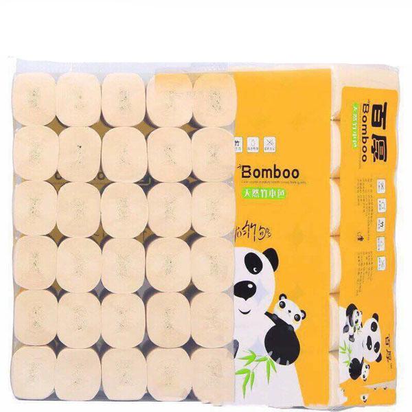 Bịch 35 cuộn giấy ăn sợi tre gấu trúc siêu dai