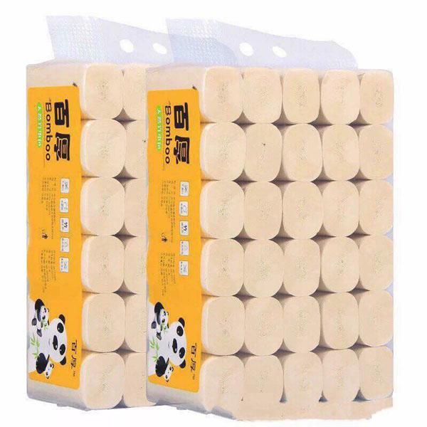 Bán sỉ bịch 35 cuộn giấy ăn sợi tre gấu trúc siêu dai