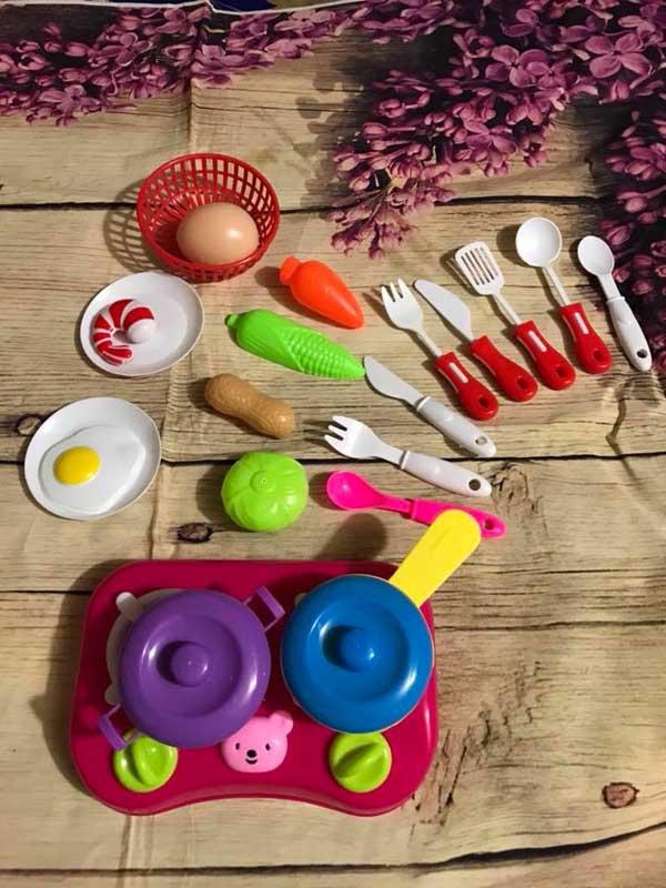 Bộ đồ chơi nấu ăn rau củ quả cho bé