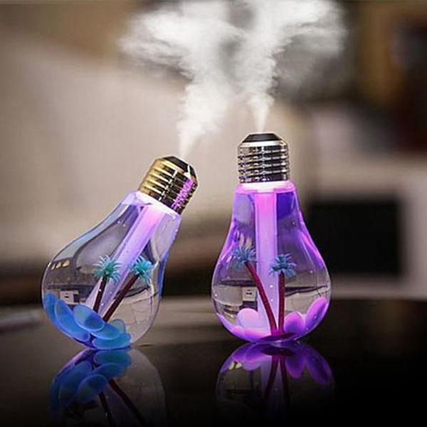 Máy phun sương tạo ẩm hình bóng đèn đổi 7 màu